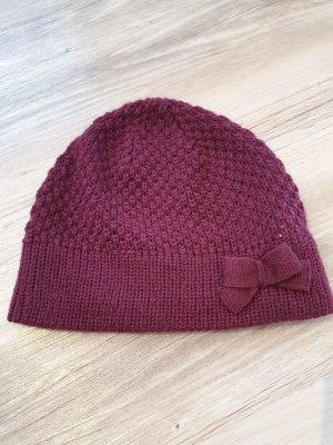 s. Oliver (QS designed) Crochet Cap bordeaux