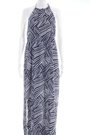 s.Oliver Robe dos-nu blanc-bleu foncé motif rayé style décontracté