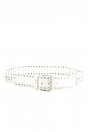 s.Oliver Studded Belt white casual look