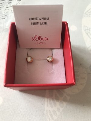 s.Oliver Silver Earrings rose-gold-coloured