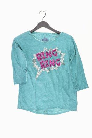 s.Oliver Oversize-Shirt Größe XS 3/4 Ärmel mit Pailletten türkis aus Baumwolle