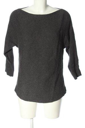 s.Oliver Oversized Pullover schwarz meliert Casual-Look