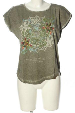 s.Oliver Camisa holgada caqui estampado floral look casual