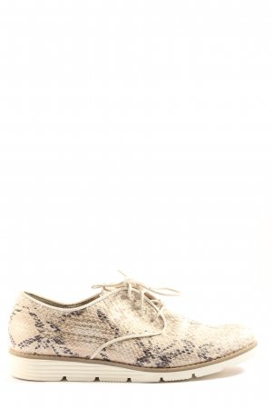 s.Oliver Oxfords cream-black allover print extravagant style