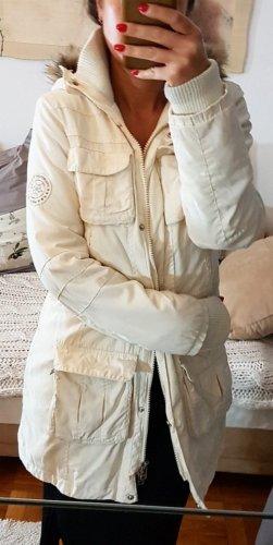 s.Oliver Abrigo con capucha blanco puro