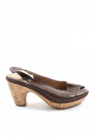 s.Oliver Peeptoe Pumps braun Casual-Look