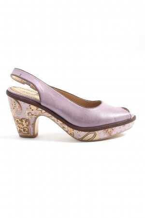 s.Oliver Peeptoe Pumps lila Casual-Look