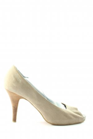 s.Oliver Peeptoe Pumps creme Casual-Look