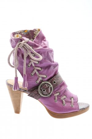 s.Oliver Peep Toe Booties lilac party style
