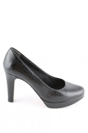s.Oliver Plateau-Pumps schwarz Animalmuster Business-Look