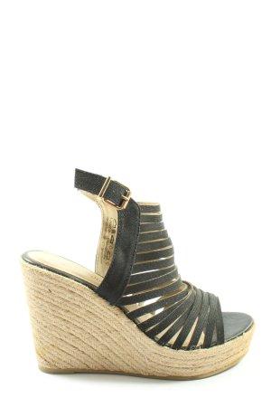 s.Oliver Platform Sandals black casual look