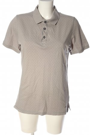 s.Oliver Polo-Shirt wollweiß Allover-Druck Casual-Look