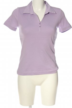 s.Oliver Polo-Shirt lila Zopfmuster Casual-Look