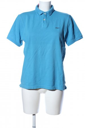 s.Oliver Polo-Shirt blau Casual-Look