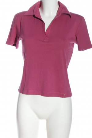 s.Oliver Polo Shirt pink cable stitch casual look
