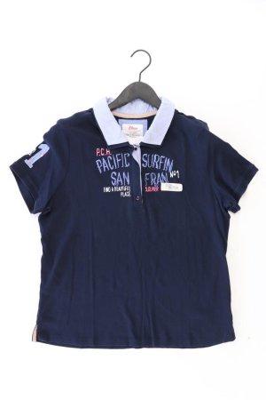 s.Oliver Poloshirt Größe 44 Kurzarm blau aus Baumwolle