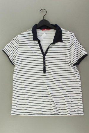 s.Oliver Poloshirt Größe 46 gestreift Kurzarm blau aus Baumwolle
