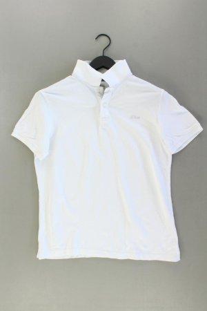 s.Oliver Poloshirt Größe M Kurzarm weiß aus Baumwolle