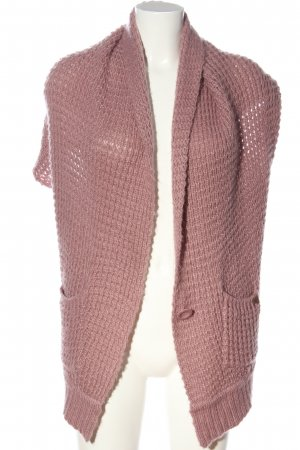 s.Oliver Poncho pink cable stitch casual look