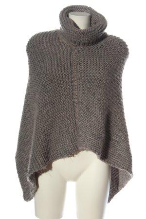s.Oliver Poncho light grey cable stitch elegant