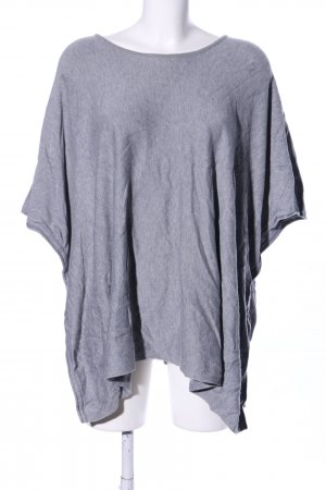 s.Oliver Poncho hellgrau meliert Casual-Look