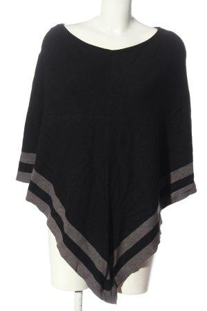 s.Oliver Poncho noir-gris clair motif rayé style décontracté