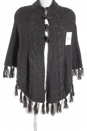 s.Oliver Poncho anthrazit Casual-Look