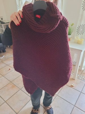 Sir Oliver Knitted Poncho bordeaux