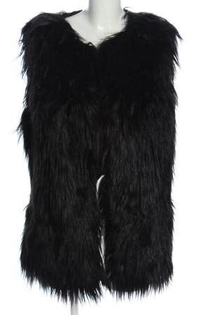 S.Oliver Premium Fake Fur Vest black casual look