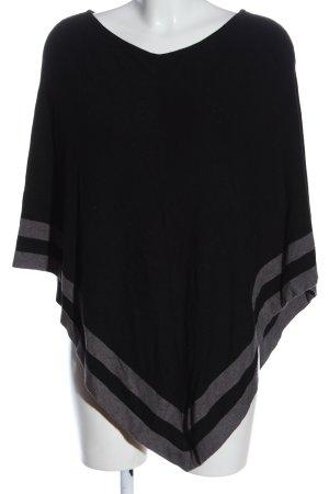 S.Oliver Premium Poncho negro-gris claro estampado a rayas look casual