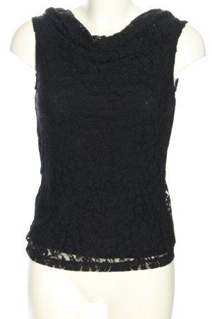 S.Oliver Premium Kanten topje zwart casual uitstraling