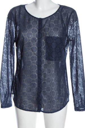 S.Oliver Premium Transparenz-Bluse blau Business-Look