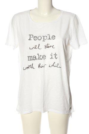 s.Oliver Print-Shirt weiß-schwarz meliert Casual-Look