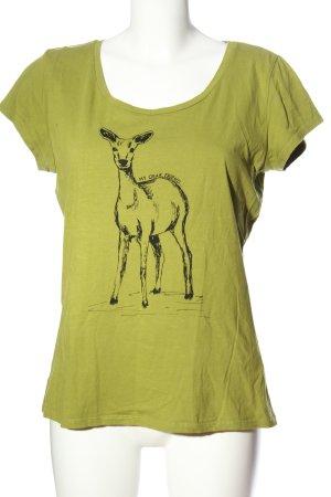 s.Oliver Print-Shirt grün Motivdruck Casual-Look