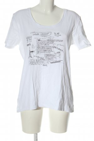 s.Oliver Print Shirt white-black printed lettering casual look