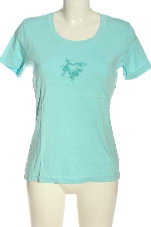 s.Oliver Print-Shirt weiß-hellgrau Motivdruck Casual-Look