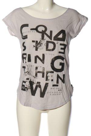 s.Oliver Print-Shirt hellgrau-schwarz Motivdruck Casual-Look