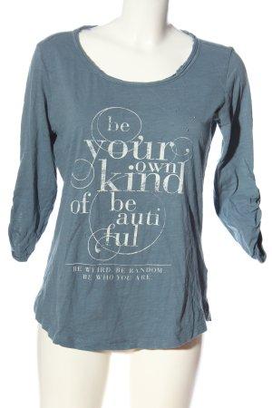 s.Oliver Print-Shirt blau-weiß meliert Casual-Look