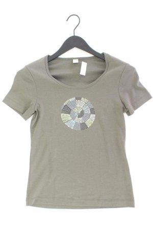 s.Oliver Printshirt Größe 36 Kurzarm olivgrün