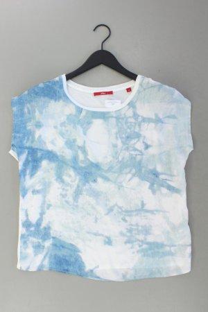 s.Oliver Print Shirt blue-neon blue-dark blue-azure viscose