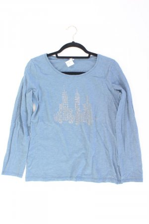 s.Oliver Printshirt Größe 40 Langarm blau