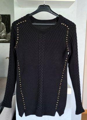 s.Oliver Maglione lavorato a maglia nero-bronzo