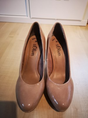s.Oliver Classic Court Shoe nude-beige