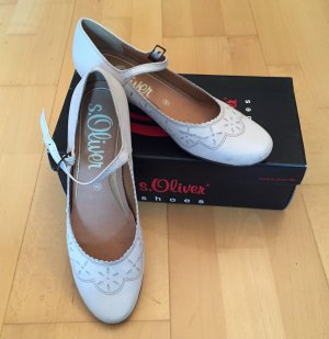 s.Oliver Strapped pumps natural white-cream