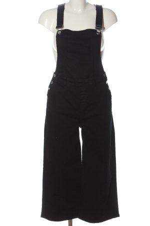 s. Oliver (QS designed) Salopette en jeans noir style décontracté