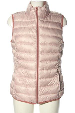 s. Oliver (QS designed) Pikowana kamizelka różowy Pikowany wzór