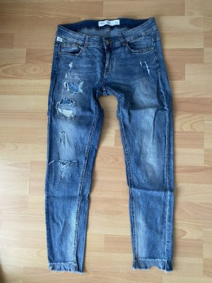 s.Oliver Qs Jeans Sadie Gr 38 ausgefranst Knöcheljeans