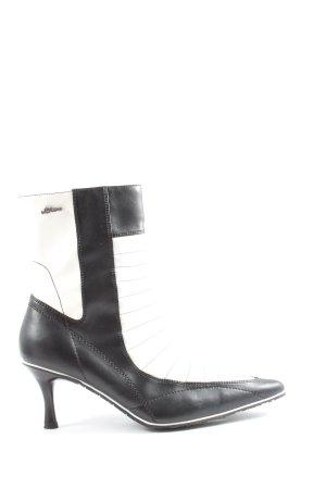 s.Oliver Reißverschluss-Stiefeletten schwarz-weiß Casual-Look