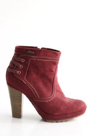 s.Oliver Reißverschluss-Stiefeletten rot Casual-Look