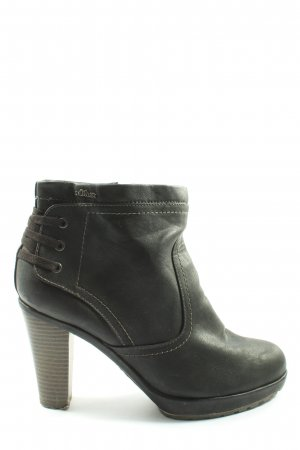 s.Oliver Zipper Booties black themed print casual look